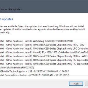 optional updates