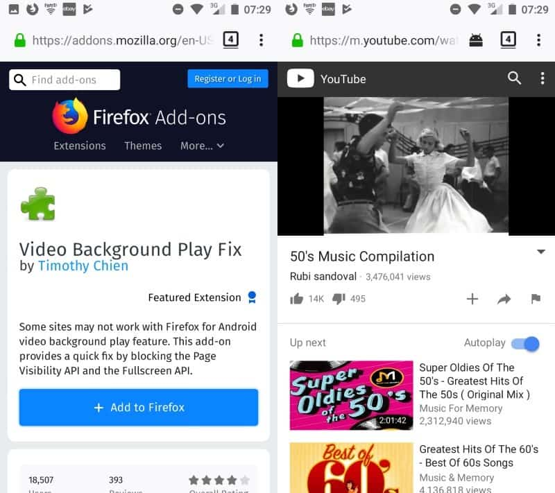 Video Background Play Fix for Firefox Mobile - gHacks Tech News