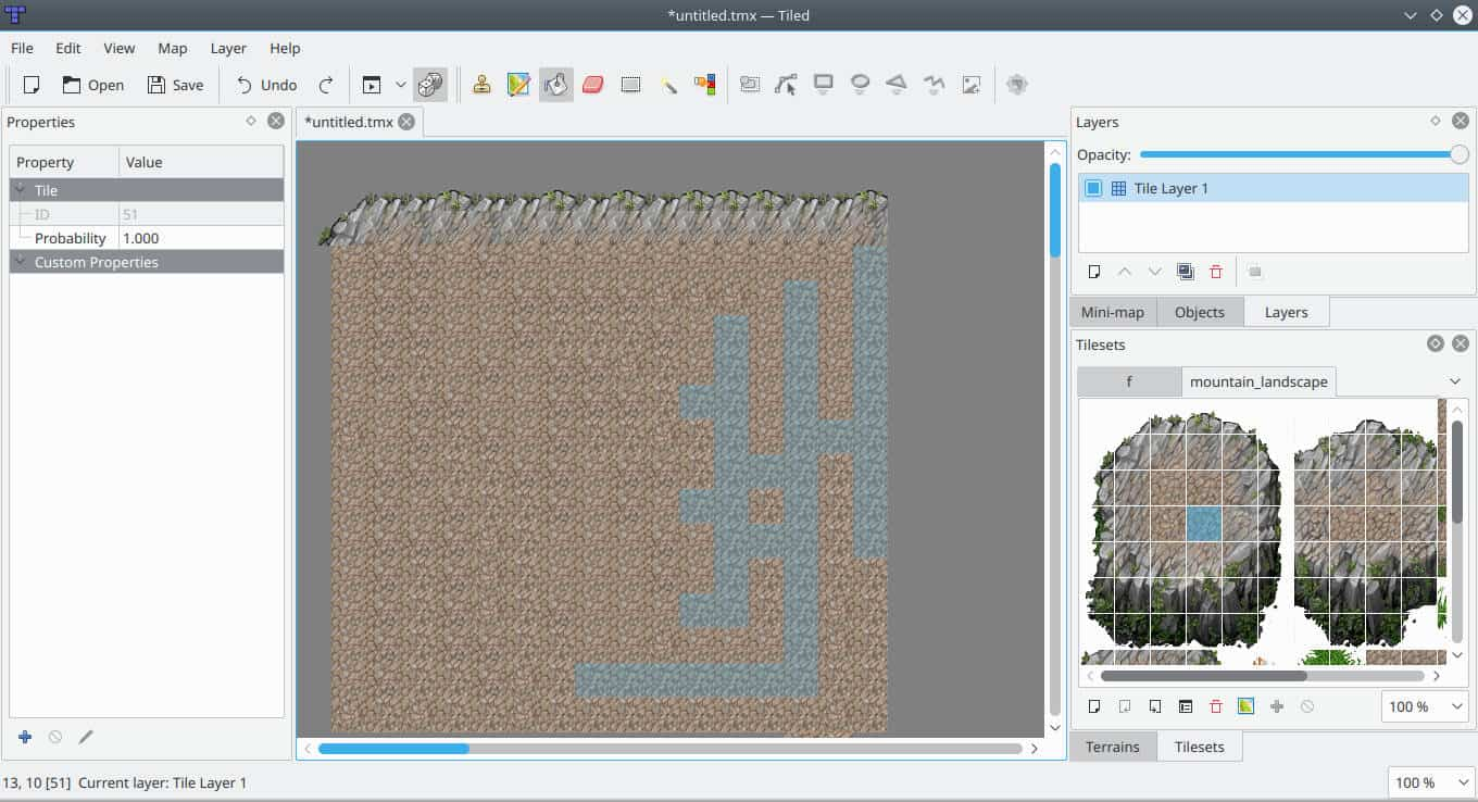 A Look at Tiled – Tiled map editor for GNU/Linux - gs ... Map Editing on map graphics, map language, map packaging,