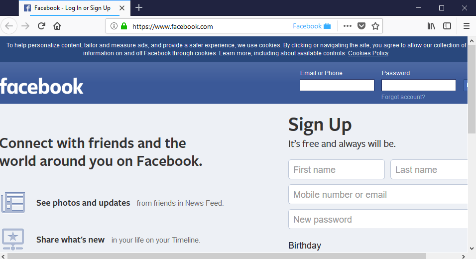 facebook container prevent tracking