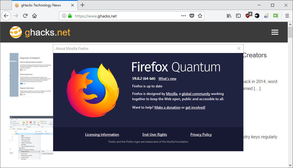 mozilla firefox 59.0.2
