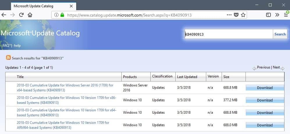 kb4090913 windows 10 usb