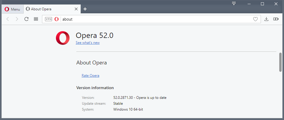 Opera 52 is out: here is what is new