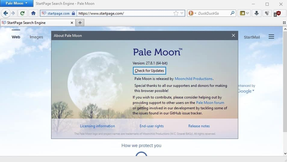Pale Moon 27.8 released