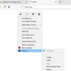 save in firefox
