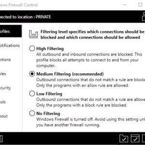 windows firewall control tips