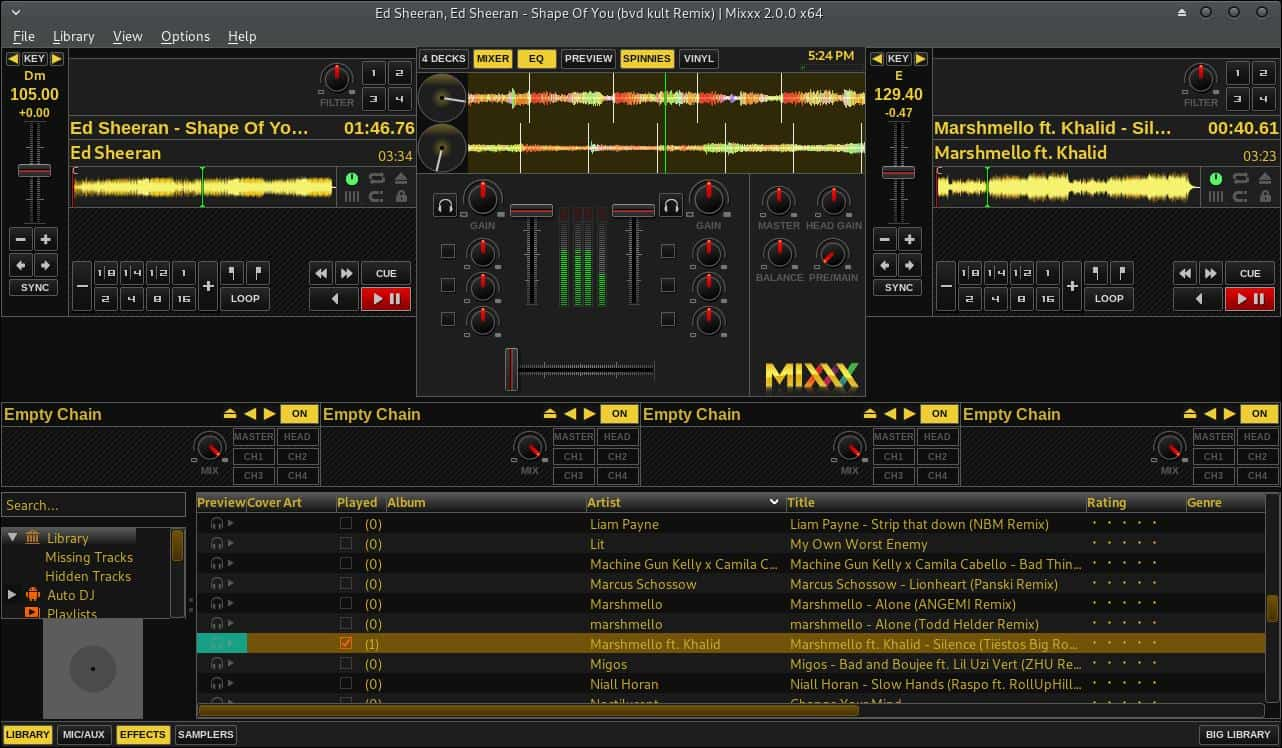 A look at Mixxx in GNU/Linux