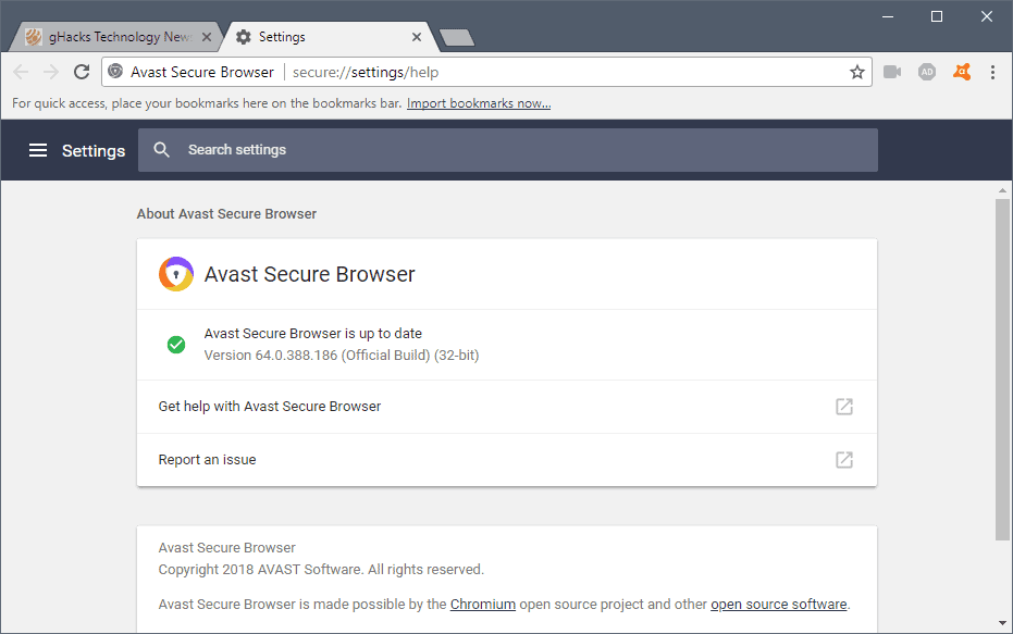 avast browser clear cache