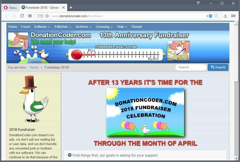 donationcoder 13 years anniversary