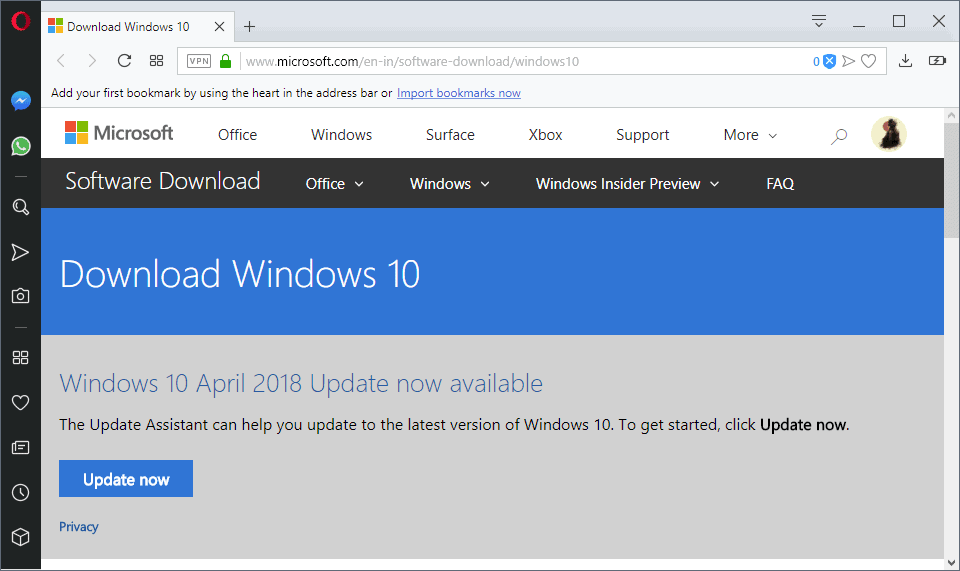download windows 10 april 2018 update