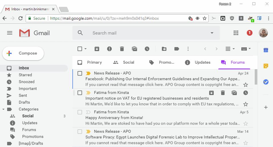 gmail fonts