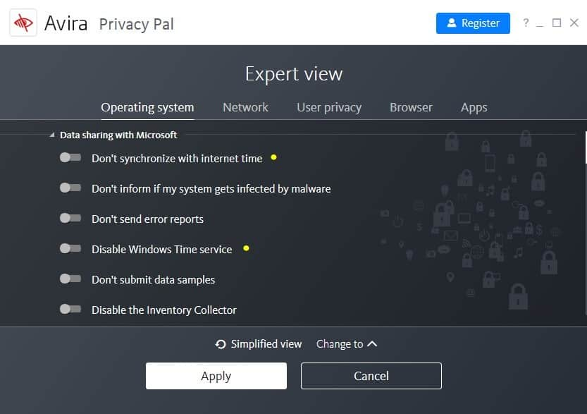 privacy pal customize