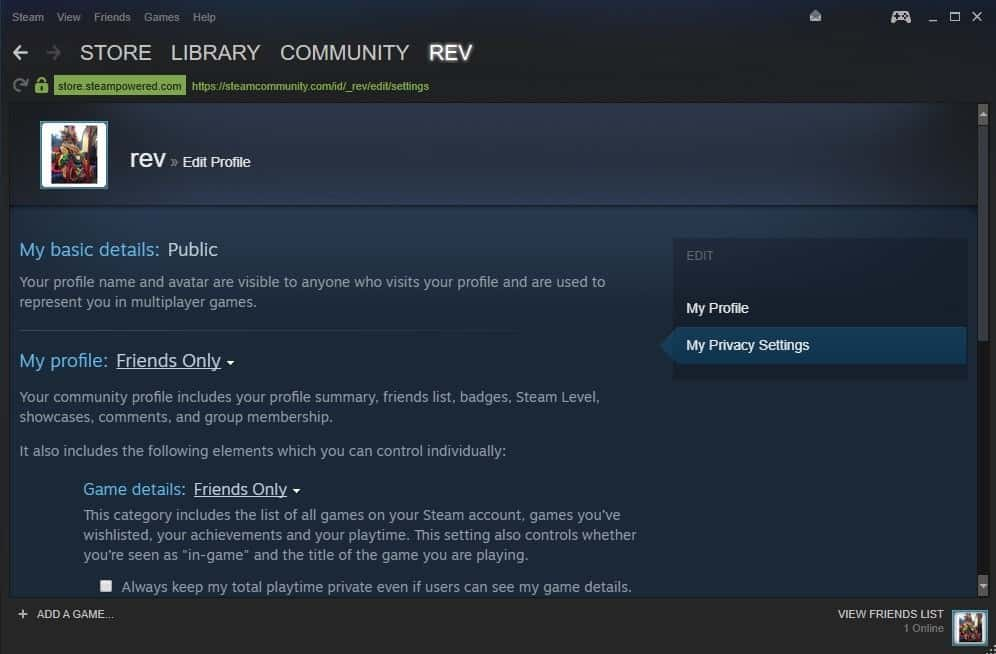 How to change Steam Privacy settings - gHacks Tech News