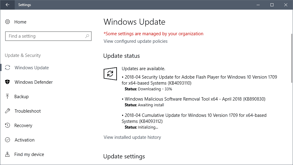 Microsoft Windows Security Updates April 2018 release