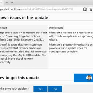 Microsoft-windows updates issue