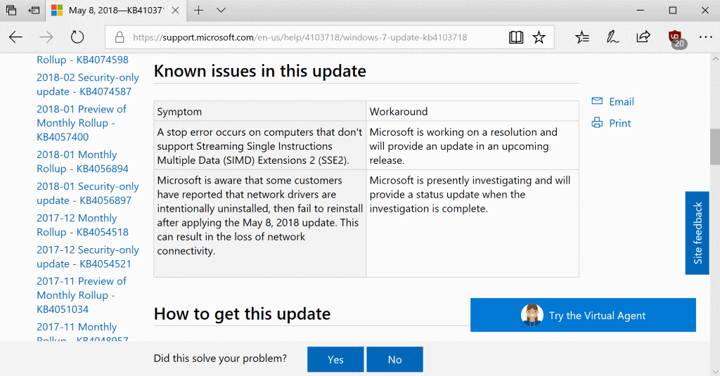 Why You Should Always Read Microsofts English Update Notes Ghacks