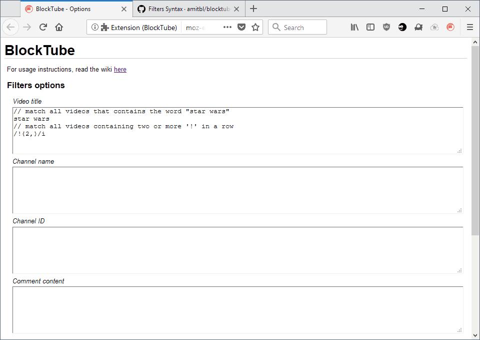 blocktube block youtube videos