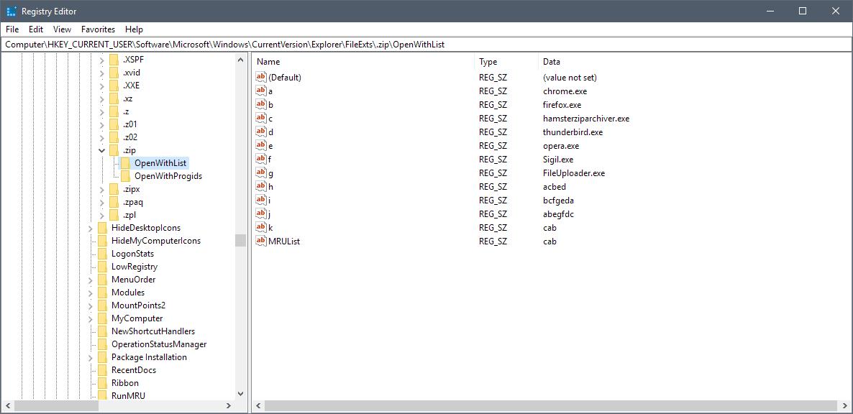 edit open with registry