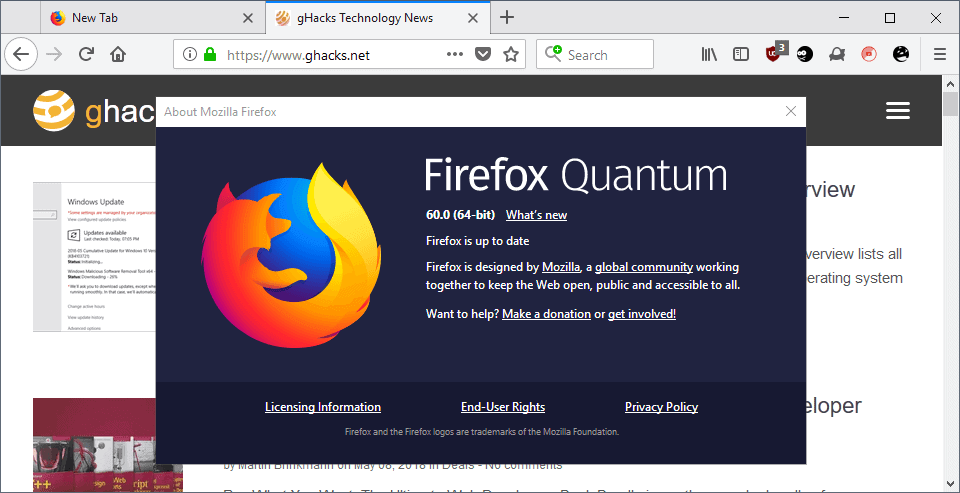 Firefox 60.0 release overview