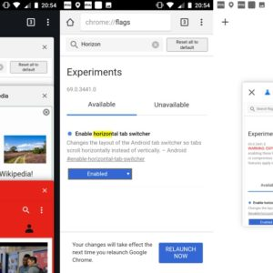 google chrome canary tab switcher changes
