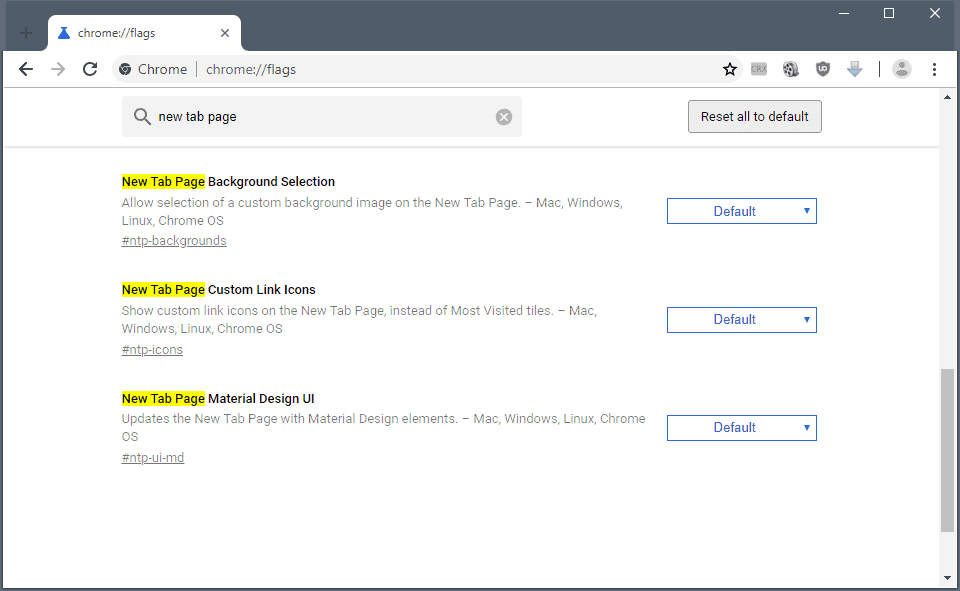 Google experiments with new Chrome New Tab Page options