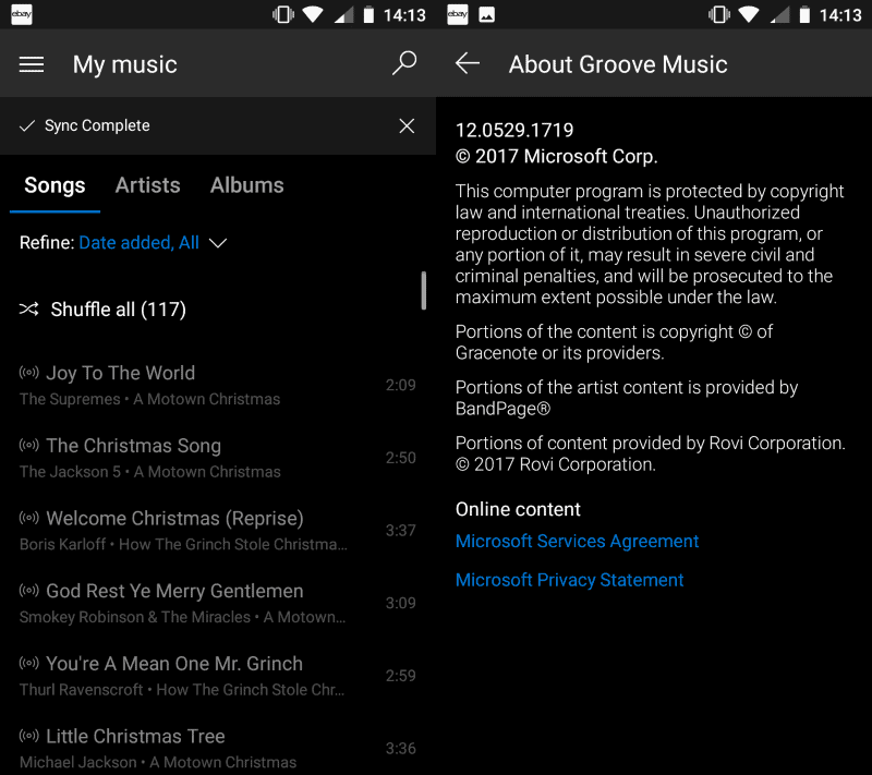 Groove Music for Android and iOS will be retired - gHacks Tech News