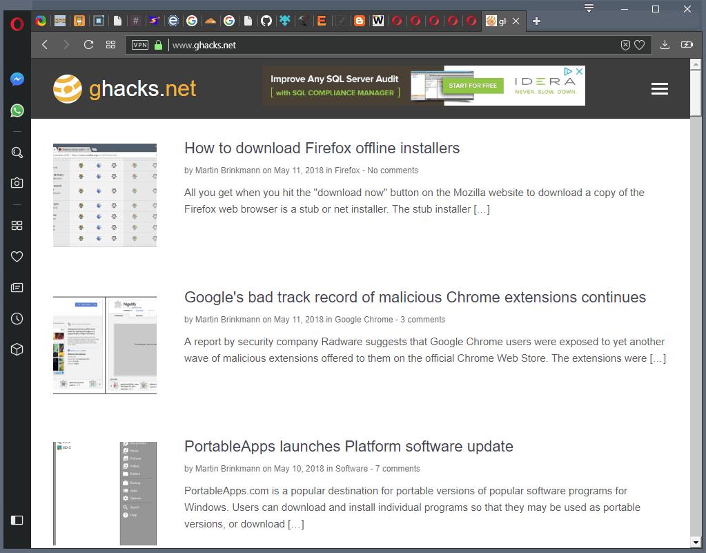 opera 53.0 improved tabbar