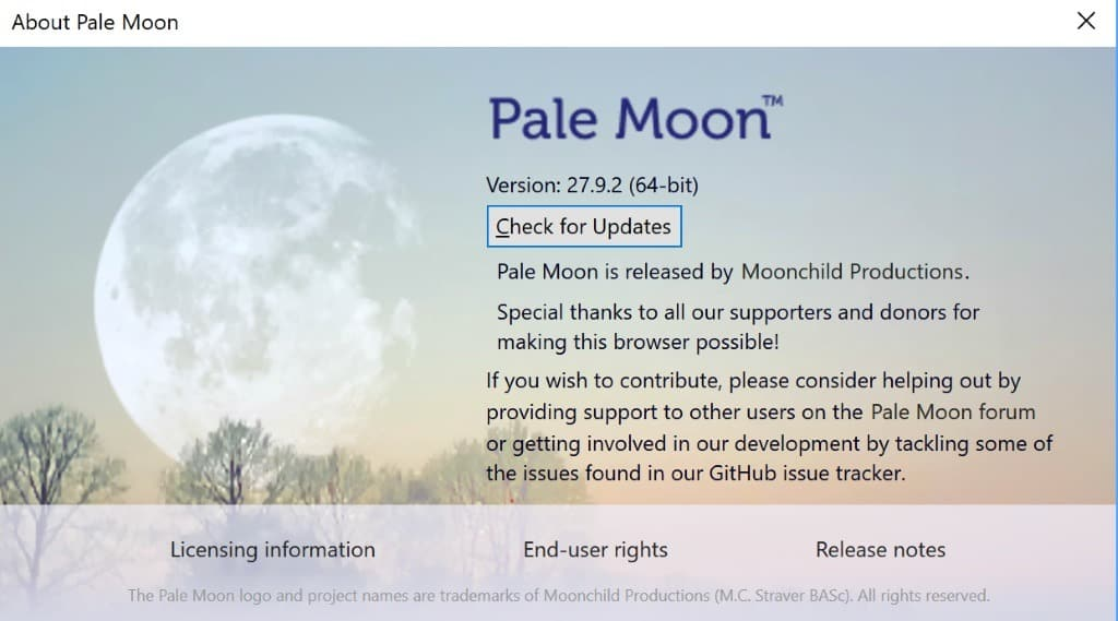 Pale Moon 27.9.2 security update released