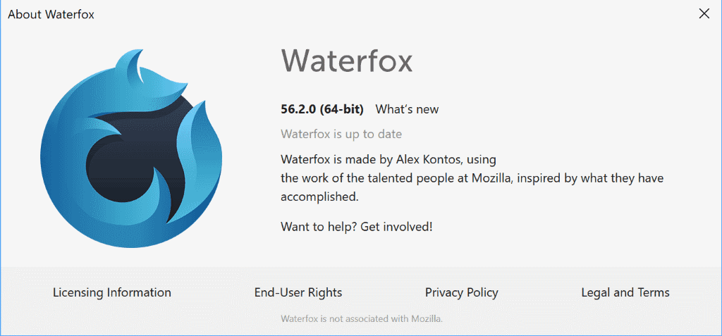 waterfox 56.2.0