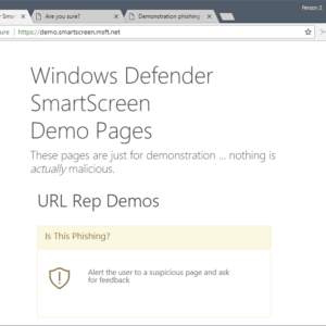 windows defender tests