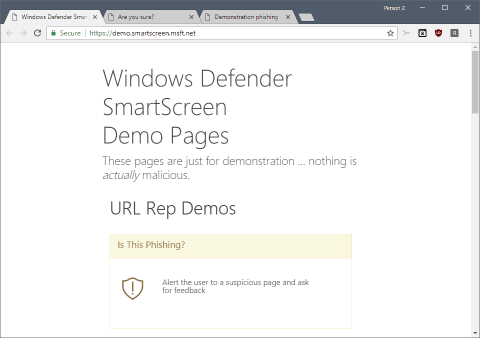 Test Windows Defender Antivirus (or other security software