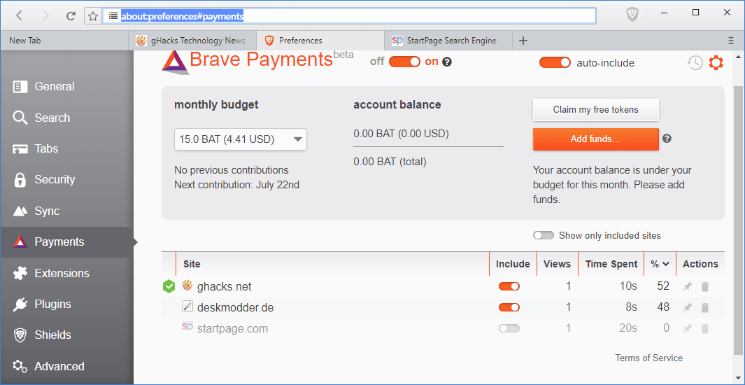 Brave starts opt-in Ads trial that rewards users and publishers