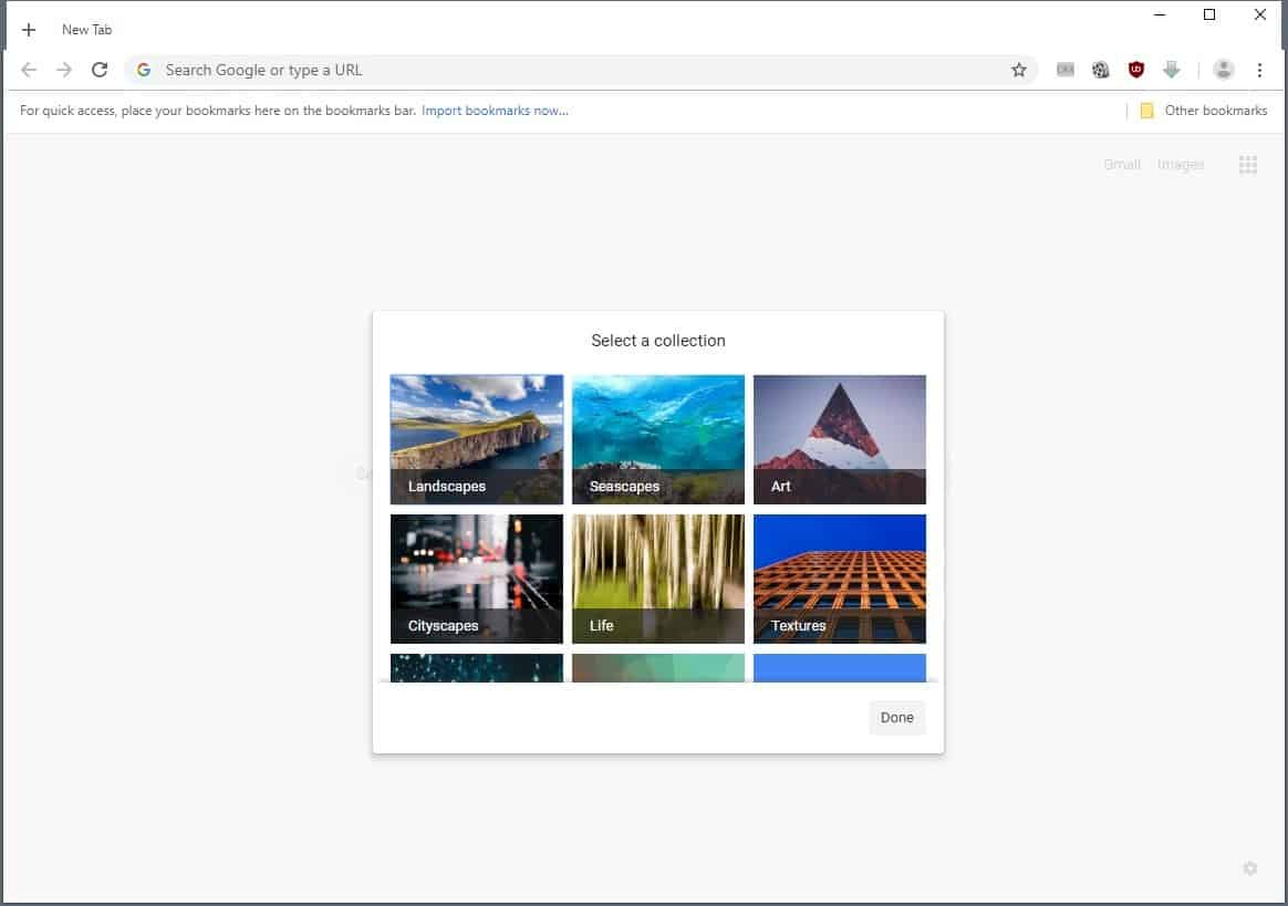 Google working on Customize Background option in Chrome