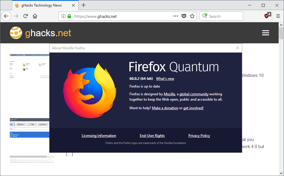Firefox 60.0.2 is a security and bug fix release