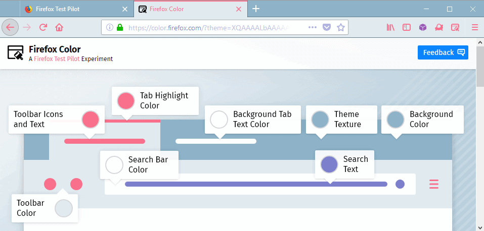 firefox color interface