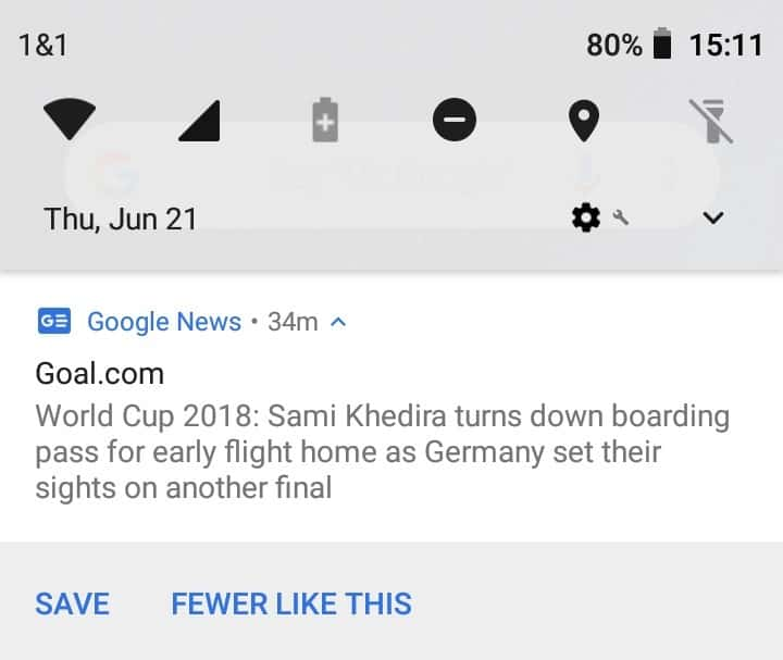 Disable Google News notifications on Android
