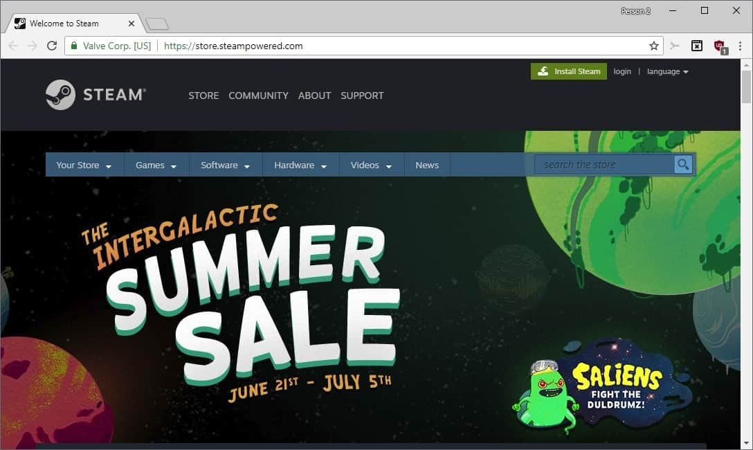 The Steam Summer Sale has started