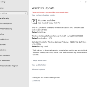 windows updates june 2018