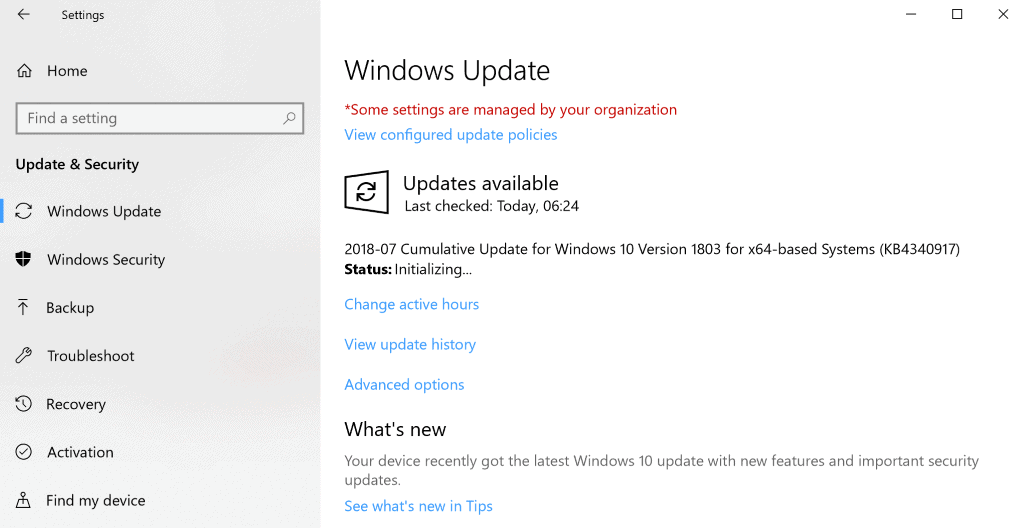 KB4340917 windows 10 update