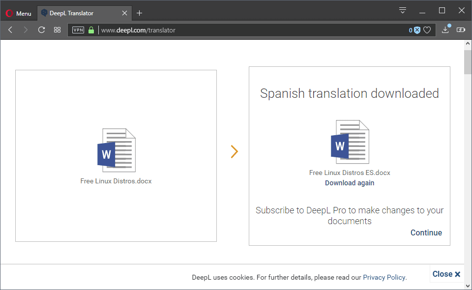 DeepL Translator now with document translation functionality