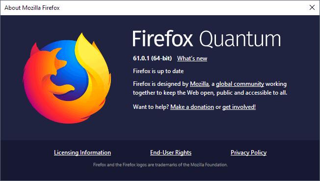 firefox 61.0