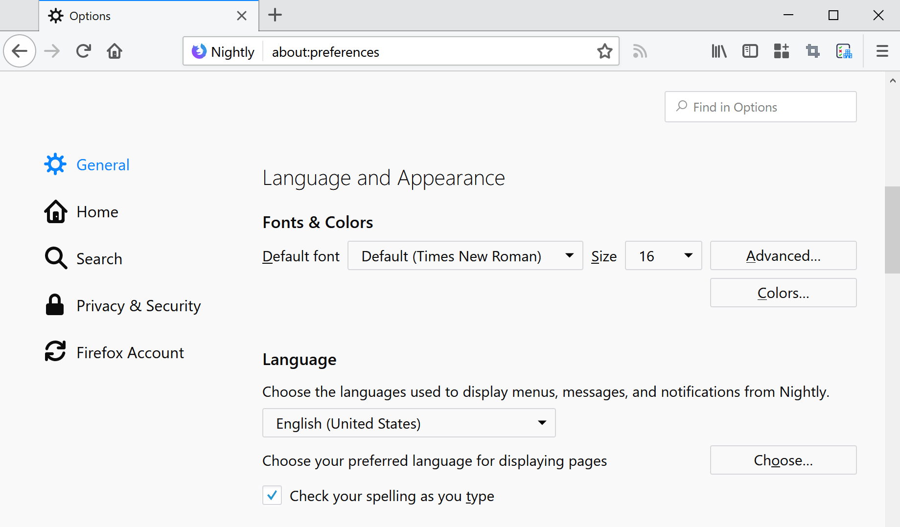 Firefox gets improved interface language switching and spell checker support