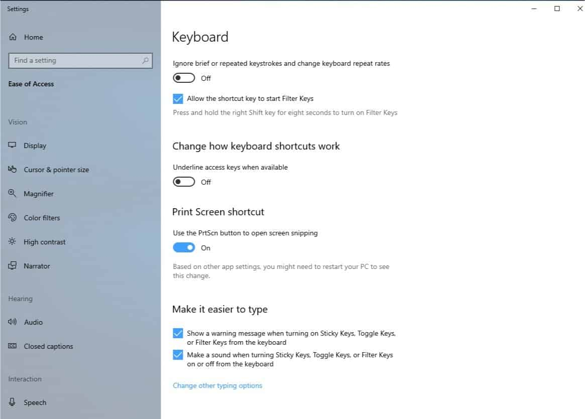 keyboard print key snipping