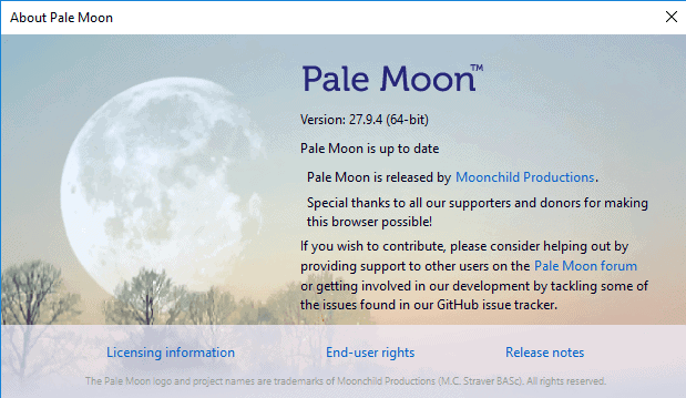 Pale Moon 27.9.4 browser released