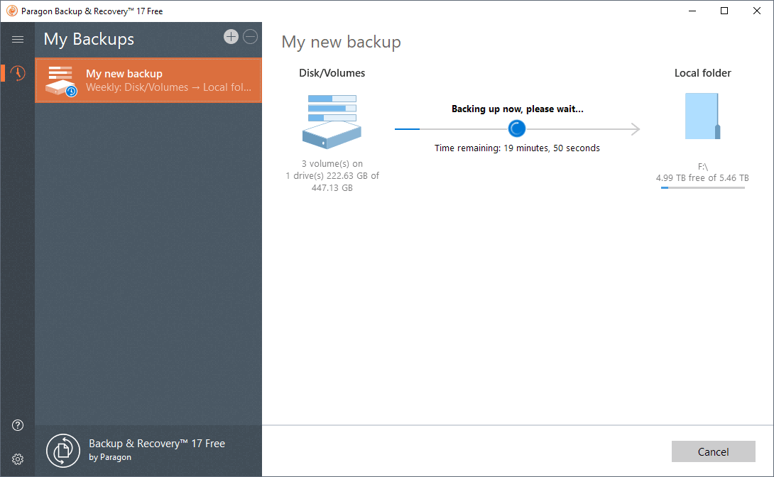 A look at Paragon Backup & Recovery Free for Windows