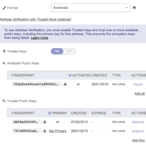 protonmail trusted keys