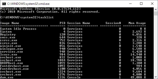 tasklist