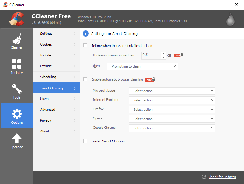 ccleaner smart cleaning