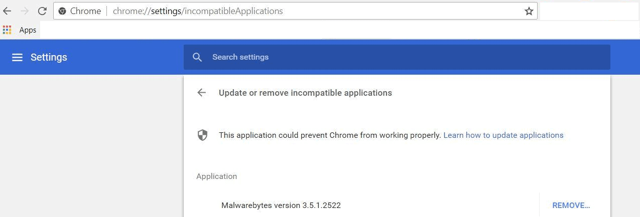 About Google Chrome\u0027s incompatible applications warning - gHacks