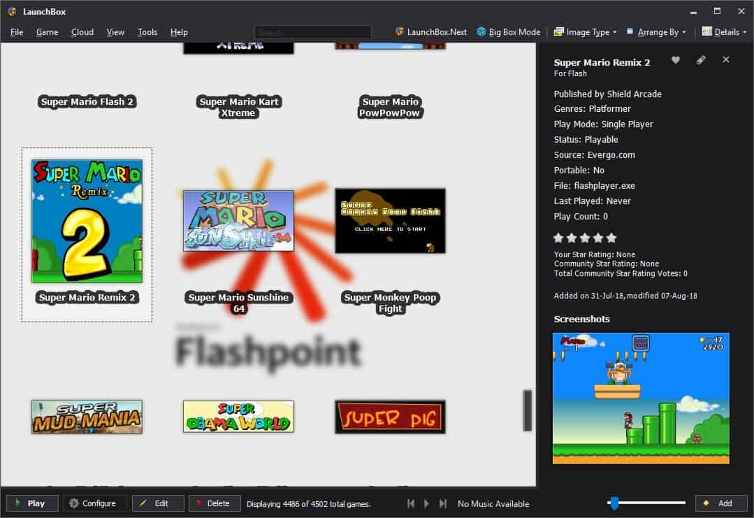 The Flash Games Preservation project Flashpoint - gHacks